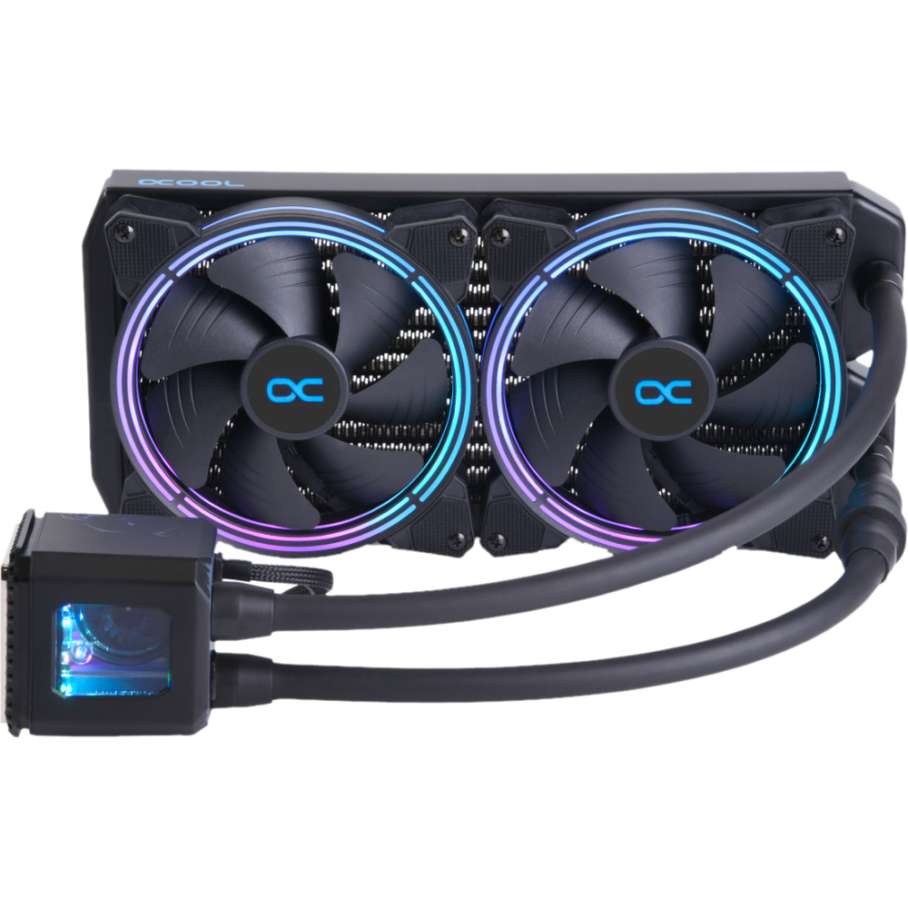 Система водяного охлаждения Alphacool Eisbaer Aurora 280 CPU Digital RGB S775/1150/1155/S1151/1200/1366/2011, AM4/AM2/AM2+, AM3+/FM1, FM2)