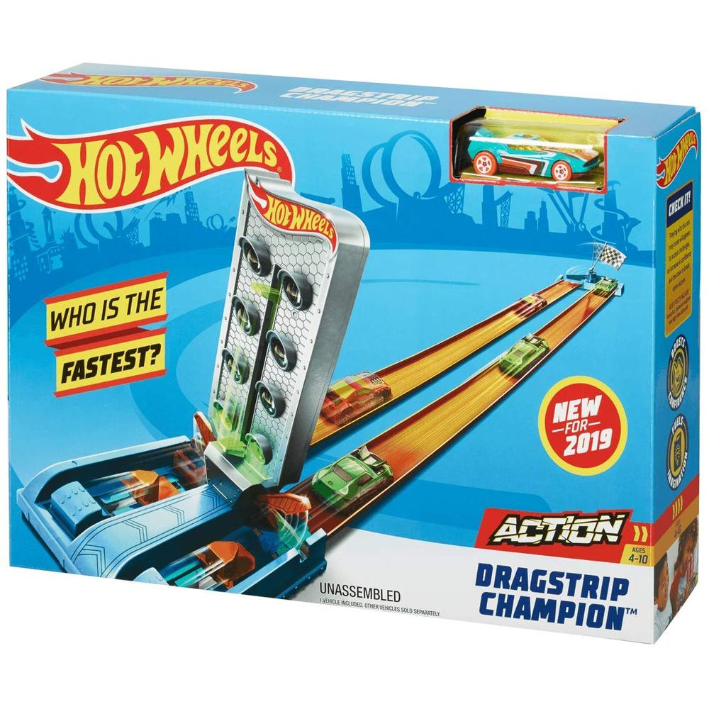 Mattel Hot Wheels Гоночный игровой набор GBF81/GBF82 Dragstrip Champion недорого