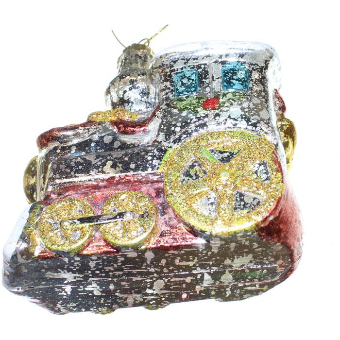 Ёлочное украшение Новогодняя сказка Паровозик 9 см (пластик)