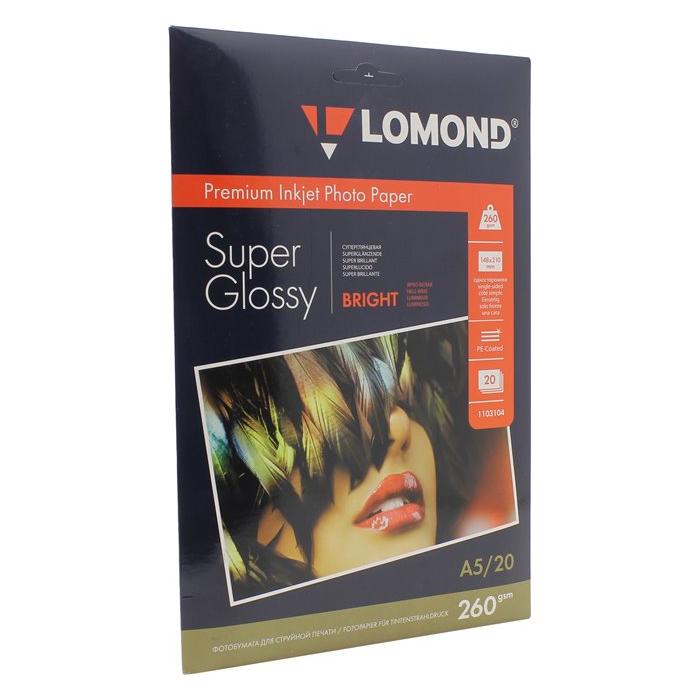 Фото - Фотобумага Lomond A5 260г/м2 20л, глянцевая (1103104) фотобумага hp q8917a глянцевая
