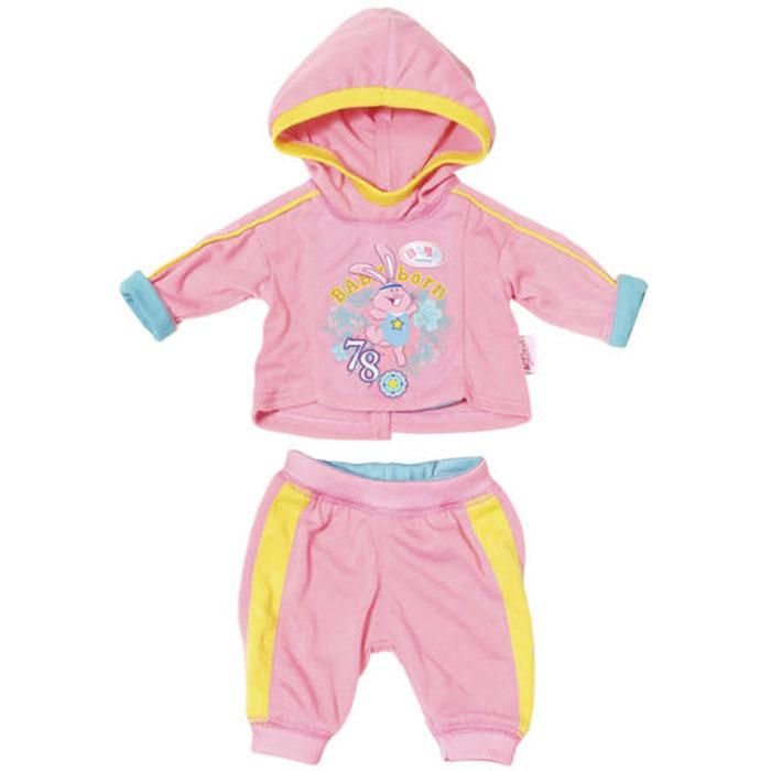 Zapf Creation Baby born Спортивный костюмчик 823-774 розовый