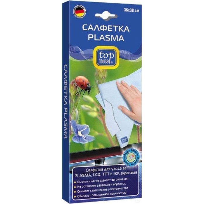 Top House Plasma многоразовая салфетка для экрана салфетка top house для стеклокерамики 31 х 32 см