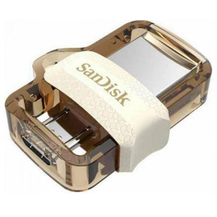 Фото - USB Flash накопитель 64GB SanDisk Ultra Dual Drive m3.0 (SDDD3-064G-G46GW) USB 3.0 + microUSB (OTG) Белый usb flash накопитель 256gb sandisk ultra dual drive m3 0 sddd3 256g g46 usb 3 0 microusb otg черный