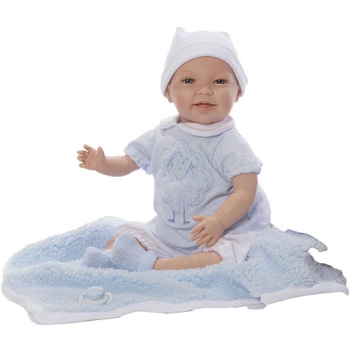 Кукла Младенец Nines 45см SUSI WOOL мягконабивной с пледом (N1061B) кукла младенец manolo dolls мягконабивной canguros 30см 4500