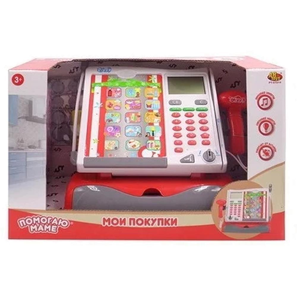 Игровая касса ABtoys Помогаю маме Касса, в наборе с аксессуарами, со световыми и звуковыми эффектами PT-01014
