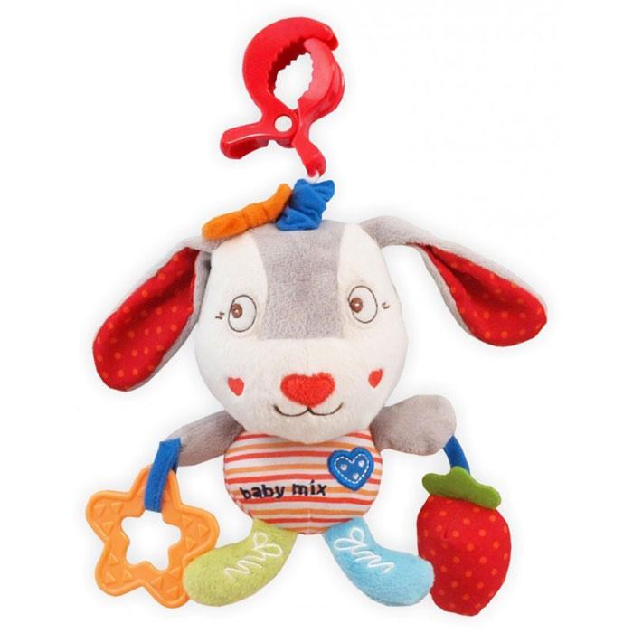 Baby Mix Игрушка мягкая с подвеской Собачка клубникой 1126