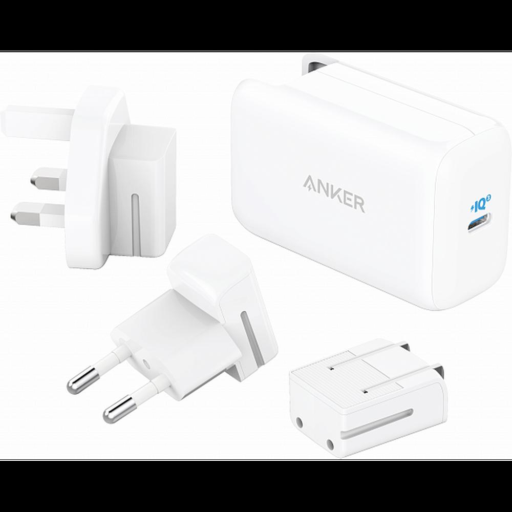 Фото - Сетевое зарядное устройство Anker PowerPort III 1хUSB-C 65W белое сетевое зарядное устройство anker powerport atom iii usb usb c белое