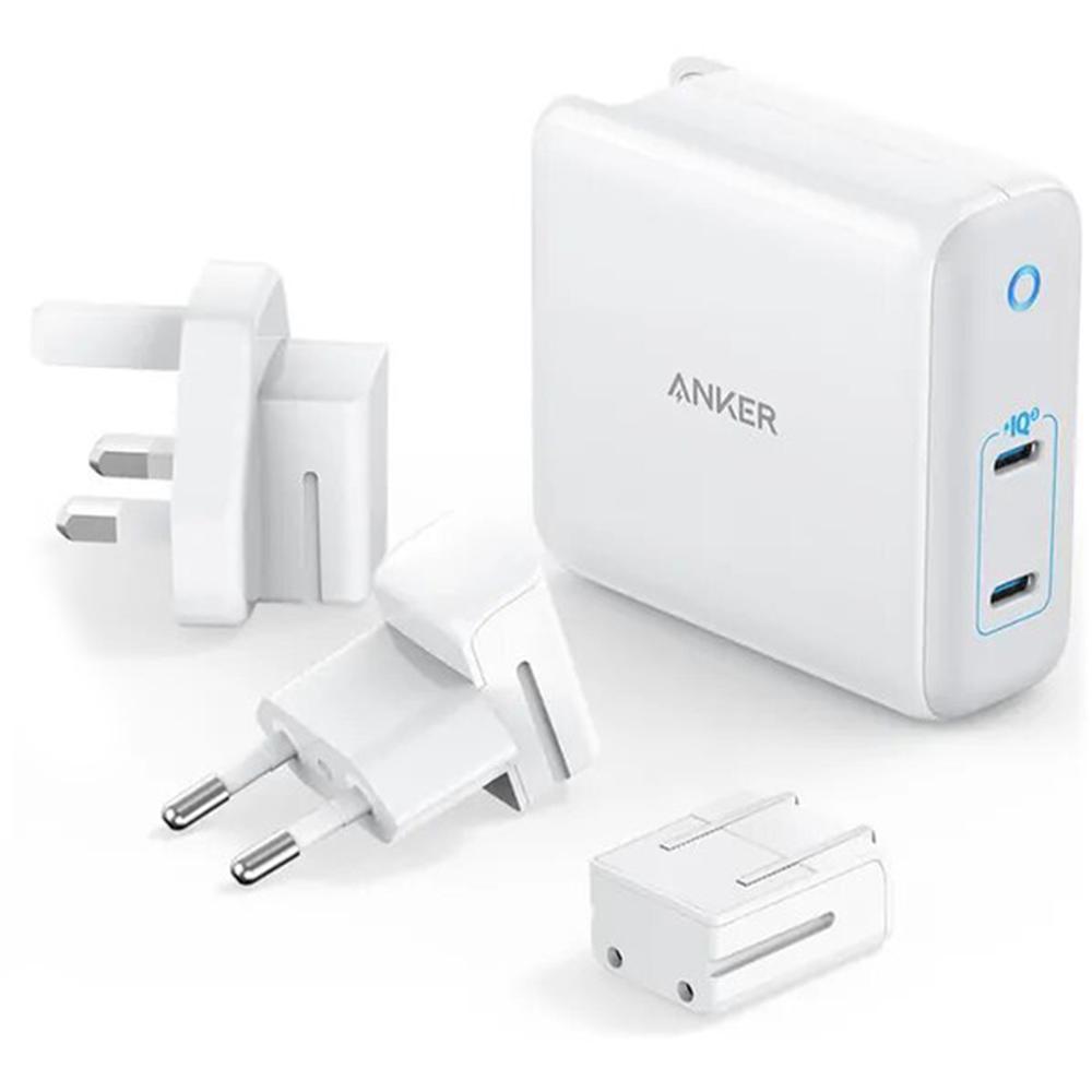 Фото - Сетевое зарядное устройство Anker PowerPort Atom III Duo 2хUSB-C 60W белое сетевое зарядное устройство anker powerport atom iii usb usb c белое