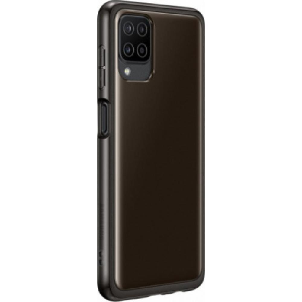 Чехол для Samsung Galaxy A12 SM-A125 Soft Clear Cover черный смартфон samsung galaxy a12 sm a125 3 32gb черный