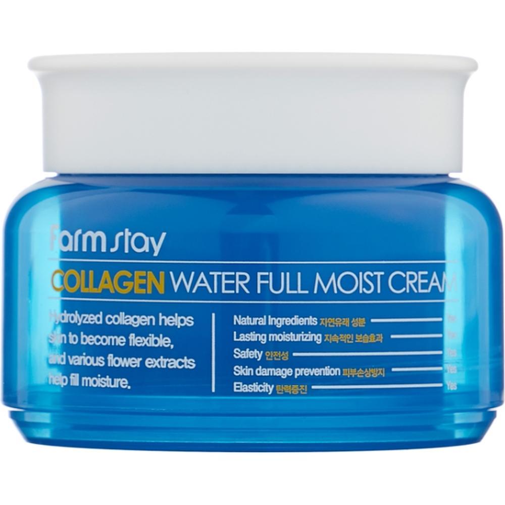 Фото - FarmStay Увлажняющий крем с коллагеном Collagen Water Full Moist Cream, 100 г. farmstay сыворотка увлажняющая с коллагеном collagen water full moist serum 250 мл