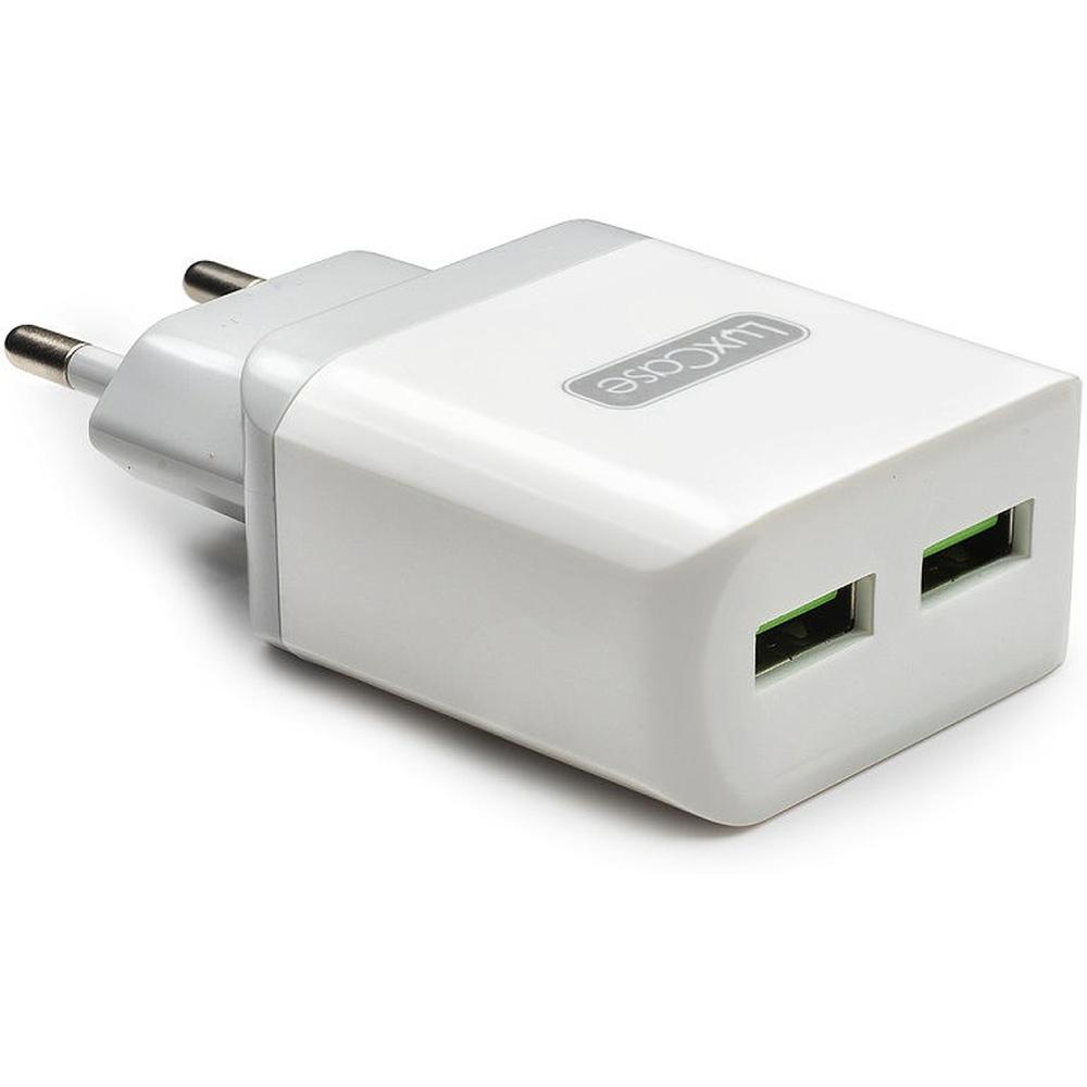 Фото - Сетевое зарядное устройство LuxCase QY-15G 2U3 2xUSB 3,2A серый аксессуар защитное стекло для meizu m5c luxcase 0 33mm 82256