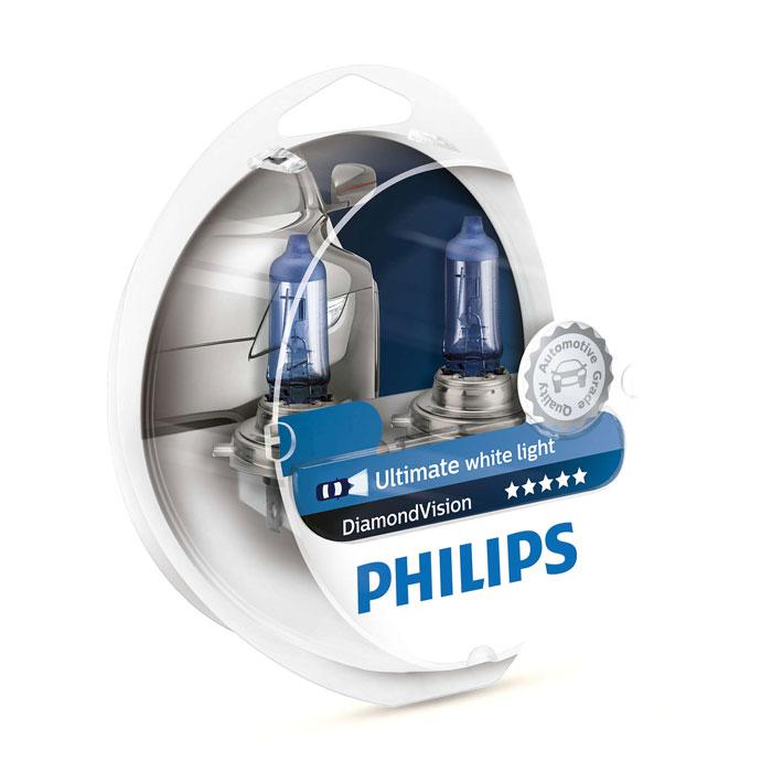 Автомобильная лампа H3 55W Diamond Vision 2 шт. Philips