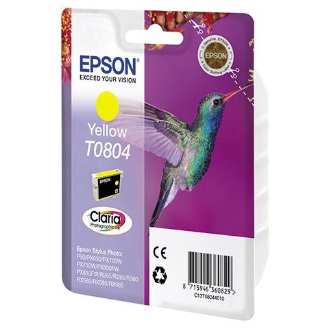 Фото - Картридж EPSON T0804 Yellow для P50/PX660 C13T08044021 epson картридж epson original t079a4a10 комплект для p50 px660