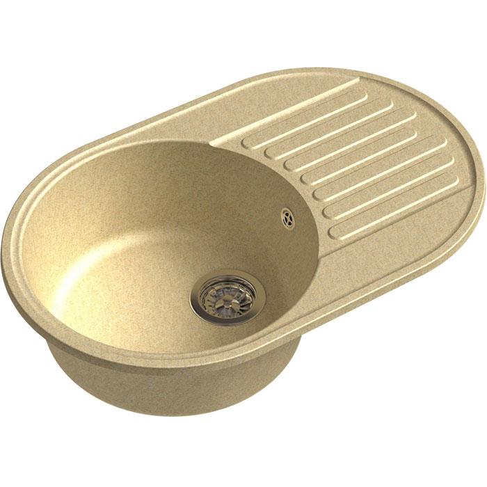 Кухонная мойка GranFest Quarz GF-Z18 чаша с крылом 740*480мм бежевый кухонная мойка granfest quarz gf z58 чаша с крылом 620 480мм бежевый