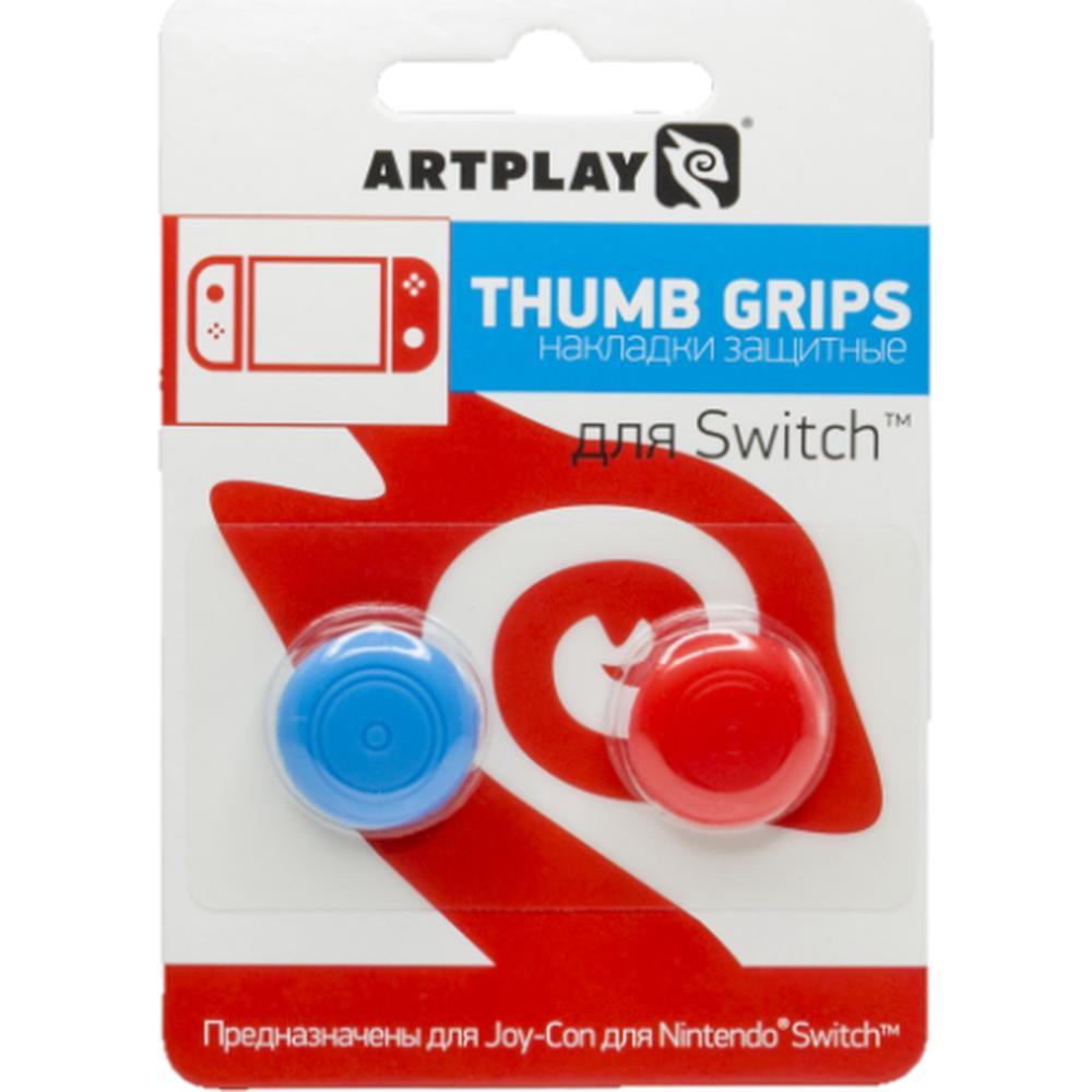 Сменные накладки Artplays Thumb Grips для консоли Nintendo Switch красные\синие