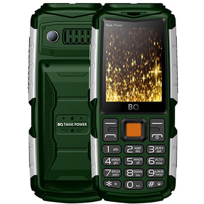 Мобильный телефон BQ Mobile BQ-2430 Tank Power Green/Silver смартфон bq mobile bq 5514l strike power 4g silver