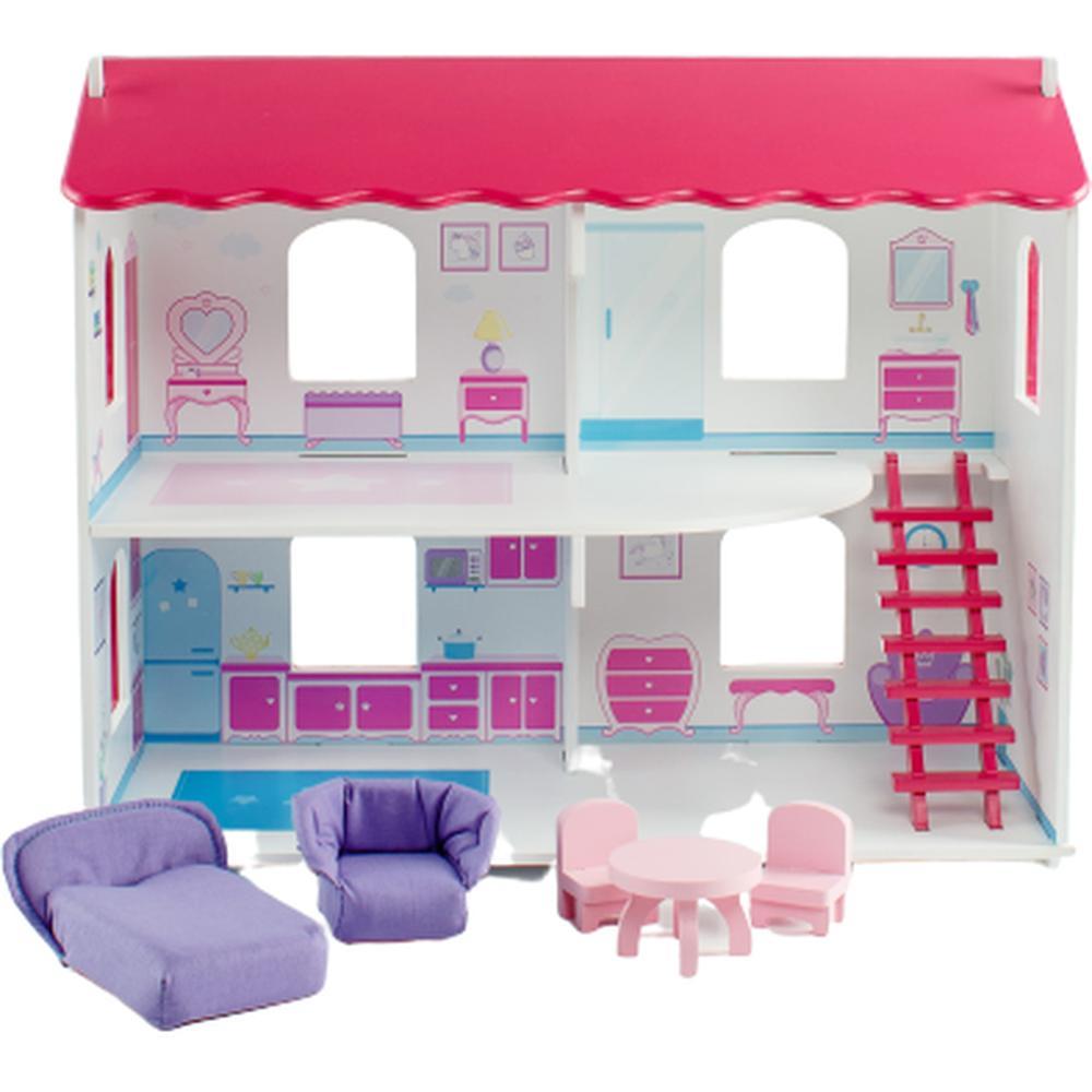 Кукольный домик Коняша «Карамель» с мебелью и интерьером (для кукол до 15 см, 49x21x41) ДКЛ002П/1