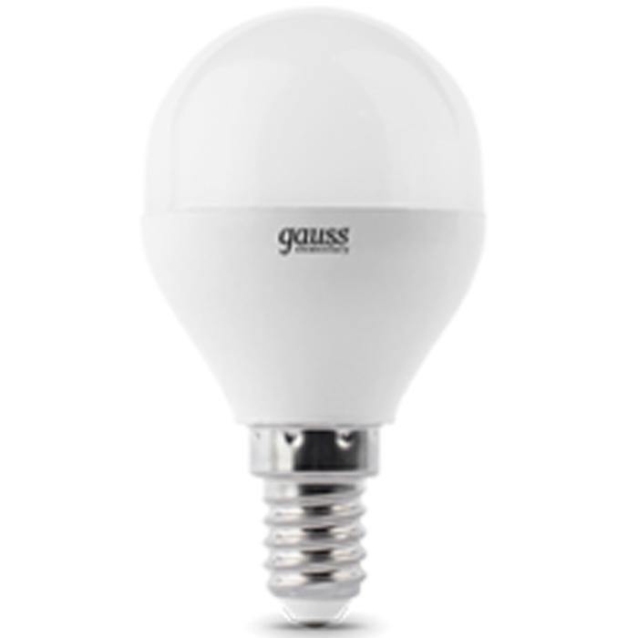 Фото - Светодиодная лампа Gauss Elementary LED Globe E14 6W 4100K 53126 светодиодная лампа gauss elementary led globe e27 6w 6500k 53236