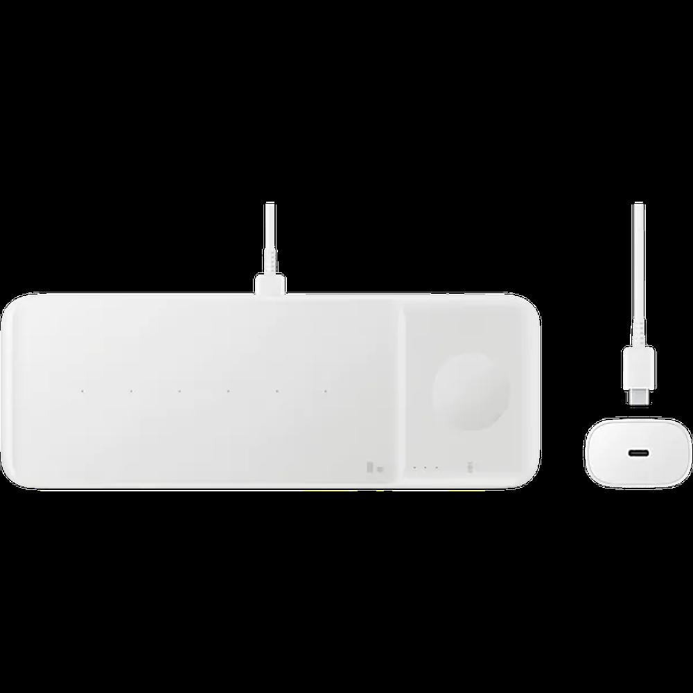 Фото - Беспроводная зарядная панель Samsung EP-P6300 белая printio чехол для samsung galaxy s7 объёмная печать листья