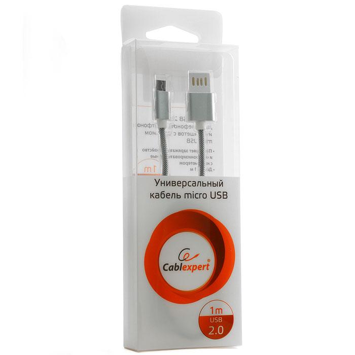 Фото - Кабель USB2.0 тип А(m)-microB(5P) 1м. Cablexpert CCB-mUSBs1m армированная оплетка кабель usb3 0 тип а m microb 9p 3 0м