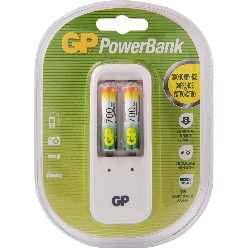 Зарядное устройство GP PB410GS70-2CR2 /10 + 2 аккумулятора AAA 700mAh