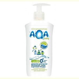 AQA baby Средство для мытья бутылочек, сосок и детской посуды, 500 мл. недорого