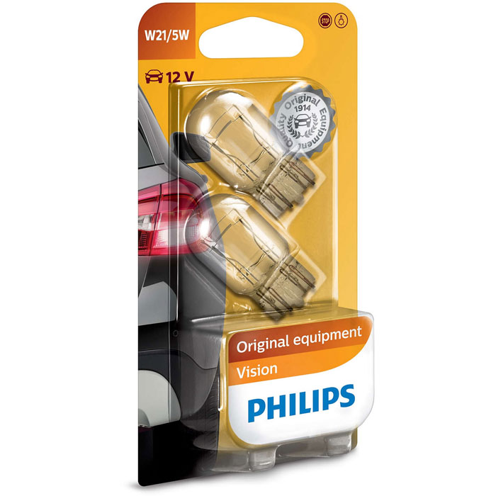 Автомобильная лампа W21/5W 21/5W 2 шт. Philips