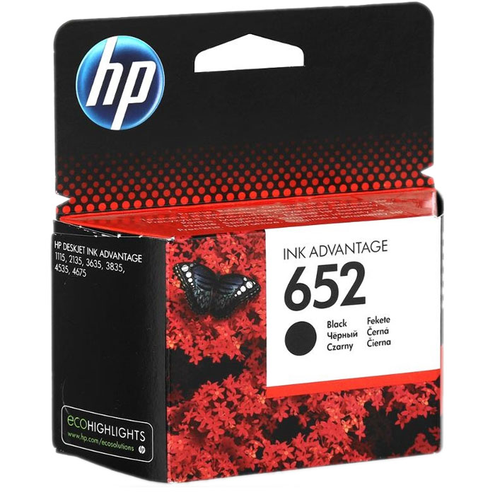 Фото - Картридж HP F6V25AE №652 Black для HP DJ IA 1115/2135/3635/4535/3835/4675 (360стр.) картридж hp 652 f6v25ae