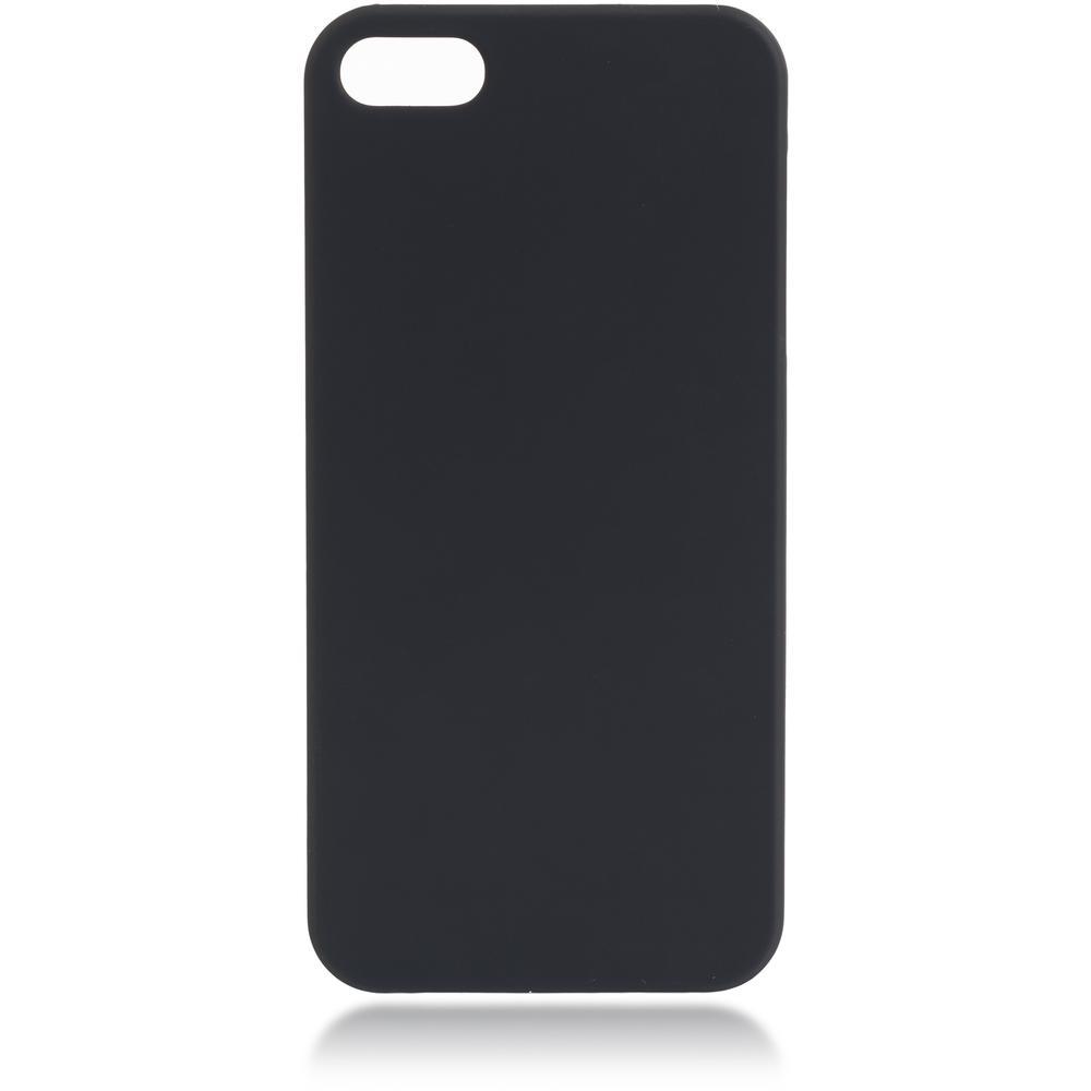 Чехол для Apple iPhone 5\5S\SE Brosco Soft-touch черный чехол для iphone 5 iphone 5s iphone se brosco soft rubber накладка черный