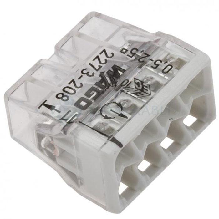 Соединительная клемма Wago 2273-208 8-проводная для медных проводов, сечение до 2,5 мм2