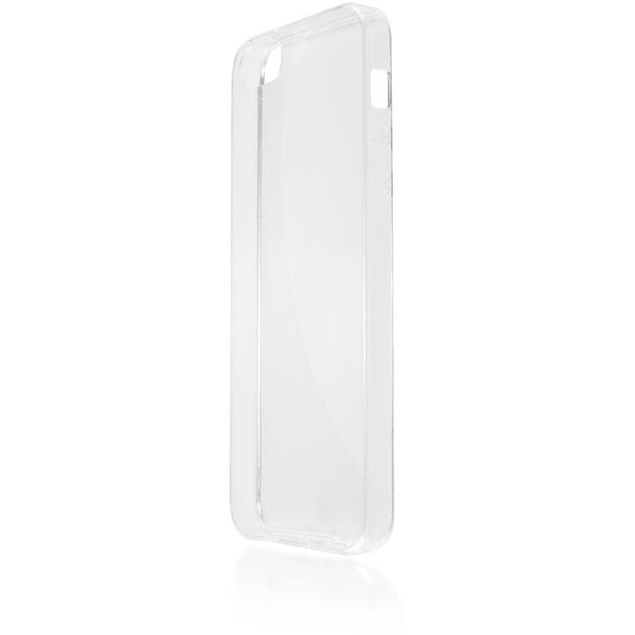 Чехол для iPhone 5\5S\SE Brosco, Силиконовая накладка, прозрачный чехол для iphone 5 iphone 5s iphone se brosco soft rubber накладка черный