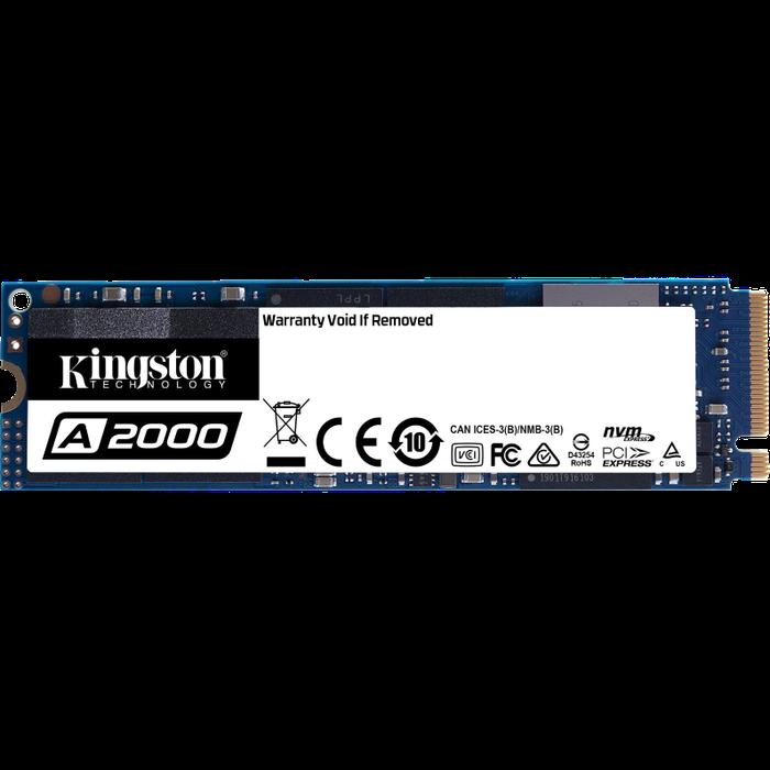 Фото - Внутренний SSD-накопитель 500Gb Kingston A2000 SA2000M8/500G M.2 2280 PCIe NVMe 3.0 x4 внутренний ssd накопитель 4096gb corsair force mp600 core cssd f4000gbmp600cor m 2 2280 pcie nvme 4 0 x4