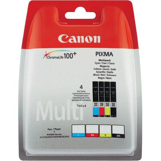 Фото - Canon CLI-451BkCMY для MG6340/MG5440/IP7240 картридж canon cli 451bk black для mg6340 mg5440 ip7240