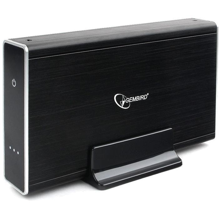 Фото - Корпус 3.5 Gembird EE3-U3S-80, SATA-USB3.0 Black алюминий, сенсорная кнопка корпус 2 5 gembird ee2 u3s 60 sata usb3 0 black