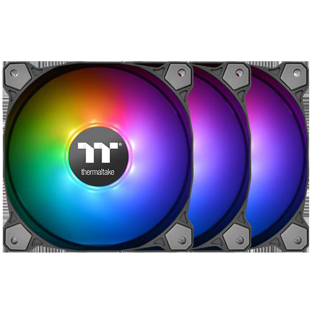 Вентилятор 120x120 Thermaltake Pure 12 ARGB Sync Radiator Fan TT Premium Edition (3-Fan Pack) (CL-F079-PL12SW-A) PWM + RGB LED Controller вентилятор enermax ucsqargb12p bp3 squa 120mm pwm rgb 3 pack