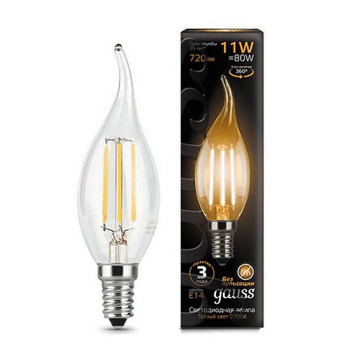 Упаковка светодиодных ламп Gauss Black Filament LED Candle Tailed E14 11W 2700K 104801111 x10 светодиодная лампа gauss black filament led candle tailed e14 11w 2700k 104801111