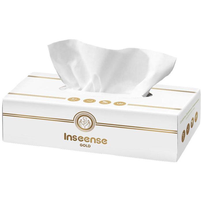 Бумажные салфетки Inseense белые 2 слоя, 150 шт (картонная коробка)