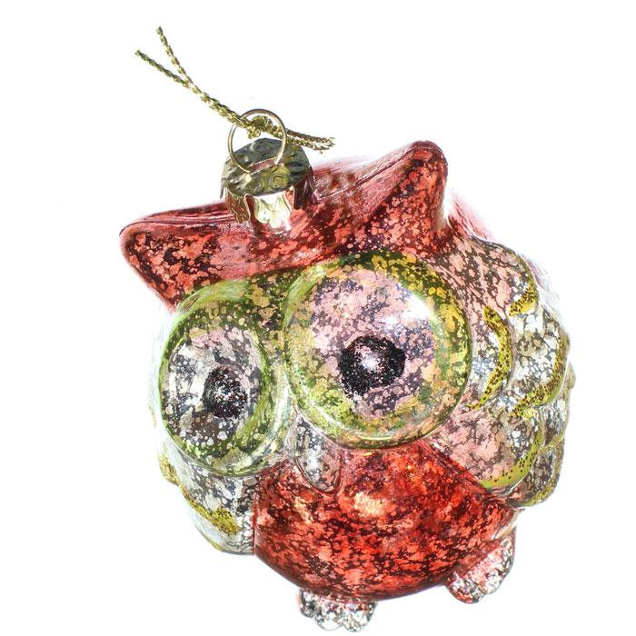 Ёлочное украшение Новогодняя сказка Сова 7,5 см (пластик)