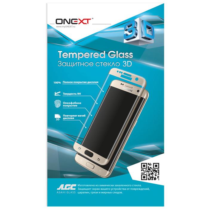Защитное стекло для Samsung Galaxy S8+ SM-G955 Onext 3D, изогнутое по форме дисплея, с золотой рамкой защитное стекло для iphone 6 plus onext 3d изогнутое по форме дисплея с прозрачной рамкой