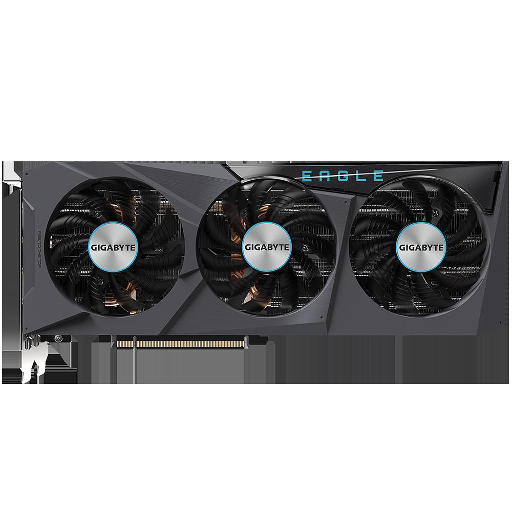 Видеокарта Gigabyte GeForce RTX 3070 Ti 8192Mb, Eagle OC 12G (GV-N307TEAGLE OC-8GD) 2xHDMI, 2xDP, Ret