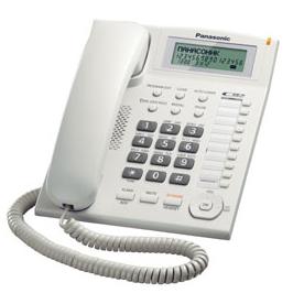 Телефон Panasonic KX-TS2388RUW белый с АОН