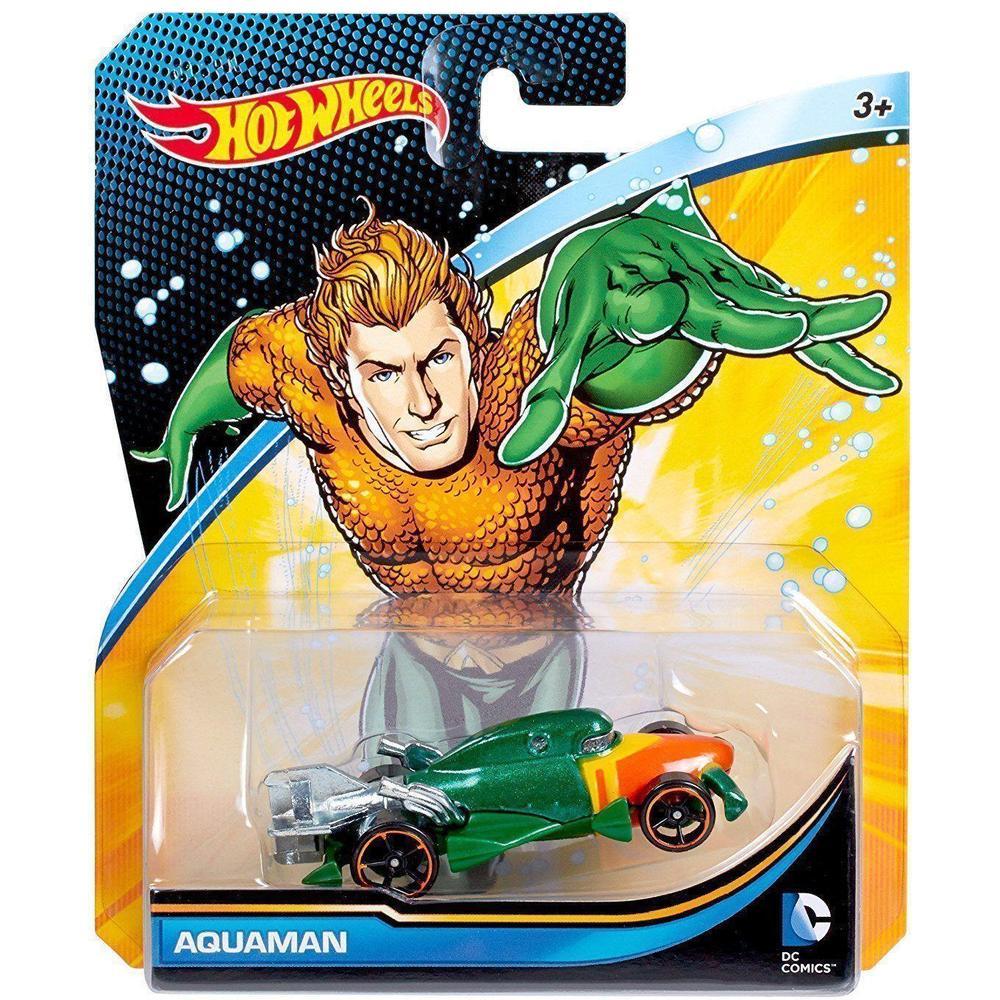 Mattel Hot Wheels Машинки персонажей DC DKJ66/FLH33 Aquaman