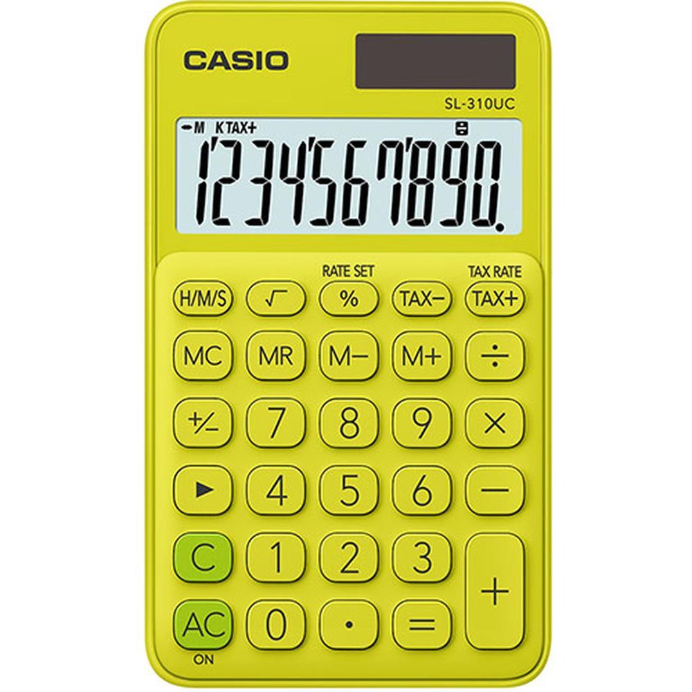 Калькулятор Casio SL-310UC-YG-S-EC желтый/зеленый 10-разр.