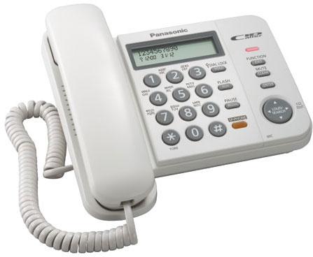 Телефон Panasonic KX-TS2358RUW белый с АОН