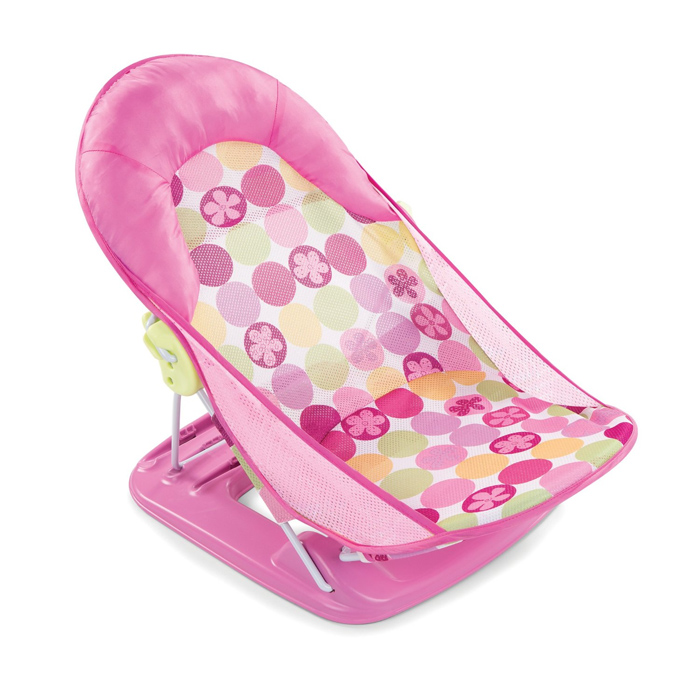 Горка для ванной Summer Infant с подголовником Deluxe Baby Bather розовый