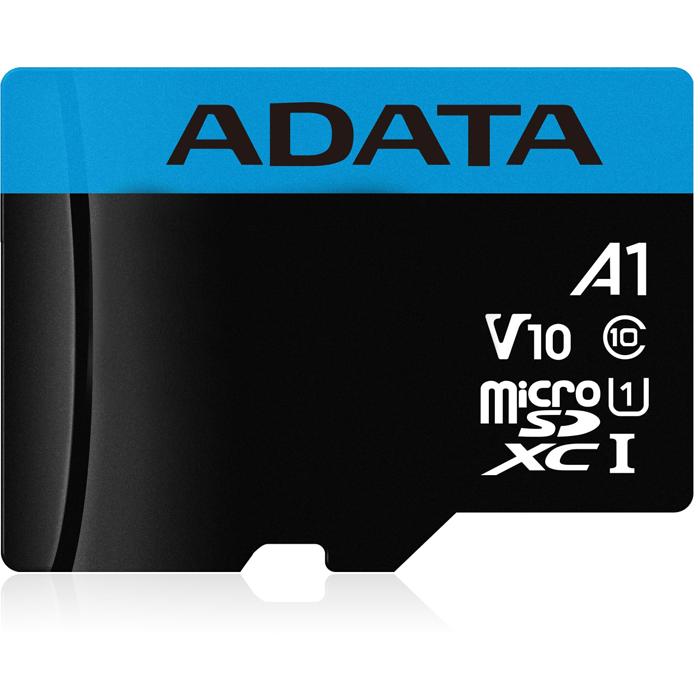 Фото - Карта памяти Micro SecureDigital 16Gb A-Data SDHC Class 10 UHS-I A1 (AUSDH16GUICL10A1-RA1) + SD адаптер карта памяти adata 256gb microsdxc class 10 uhs i a1 100 25 mb s sd адаптер ausdx256guicl10a1 ra1