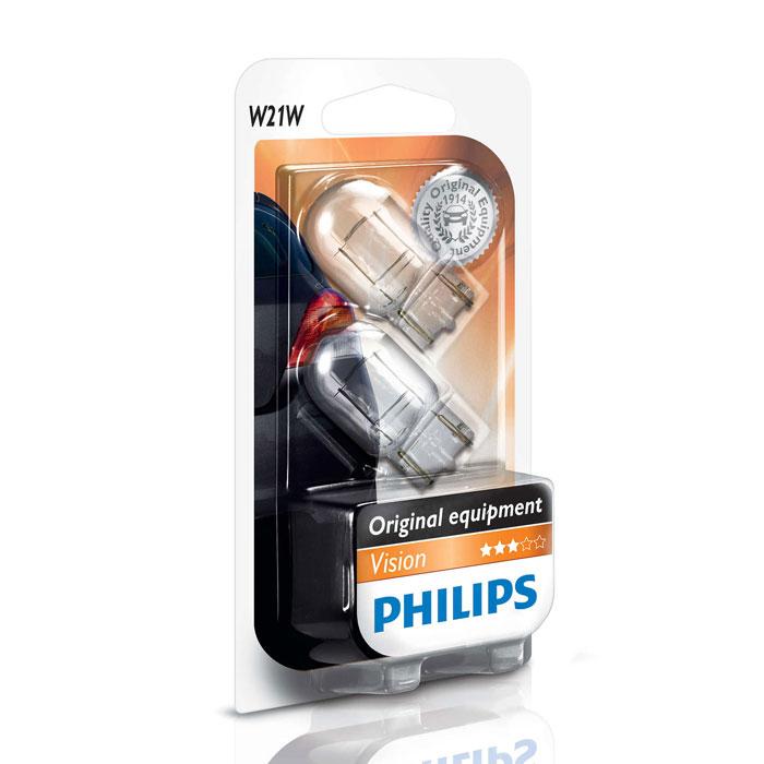 Автомобильная лампа W21W 21W 2 шт. Philips