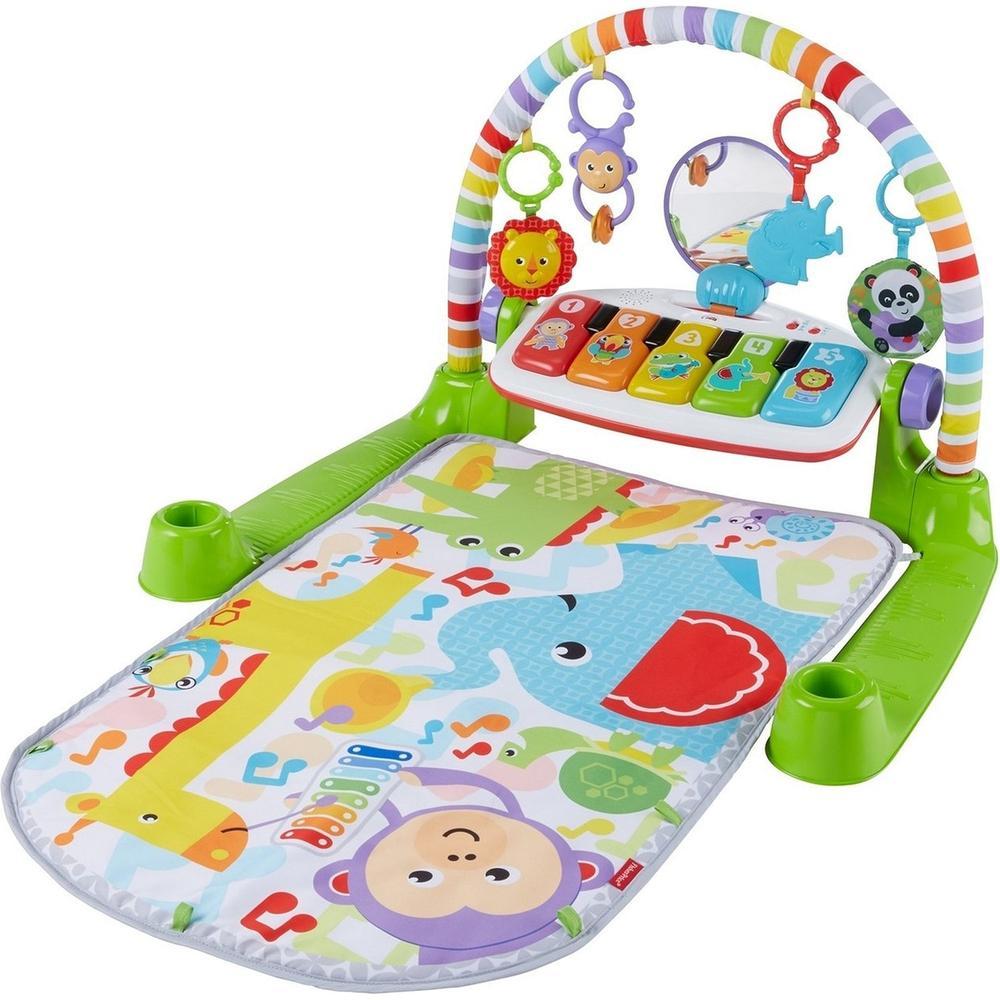 Фото - Развивающий коврик Mattel Fisher-Price Пианино Делюкс FWT14 развивающий коврик fisher price джамбо