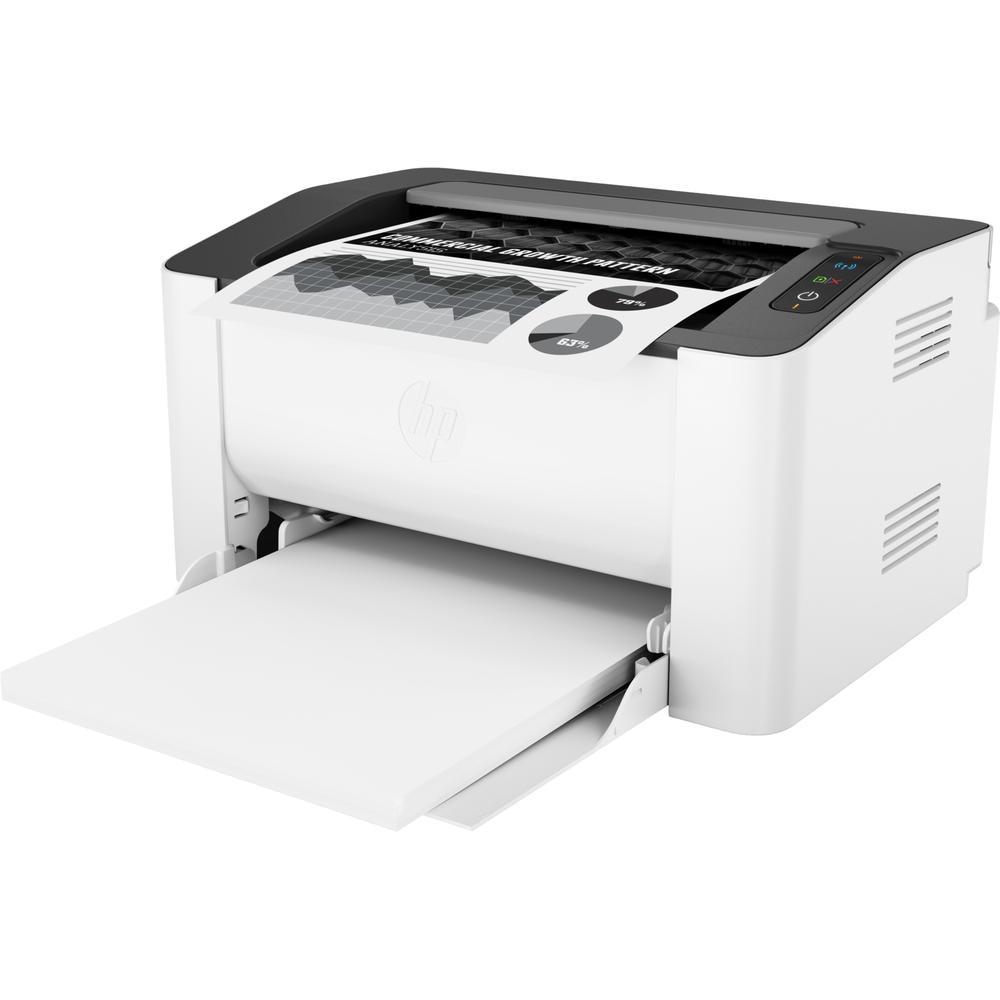 Фото - Принтер HP Laser 107w 4ZB78A ч/б A4 20ppm WiFI принтер лазерный hp neverstop laser 1000w a4 wifi 4ry23a