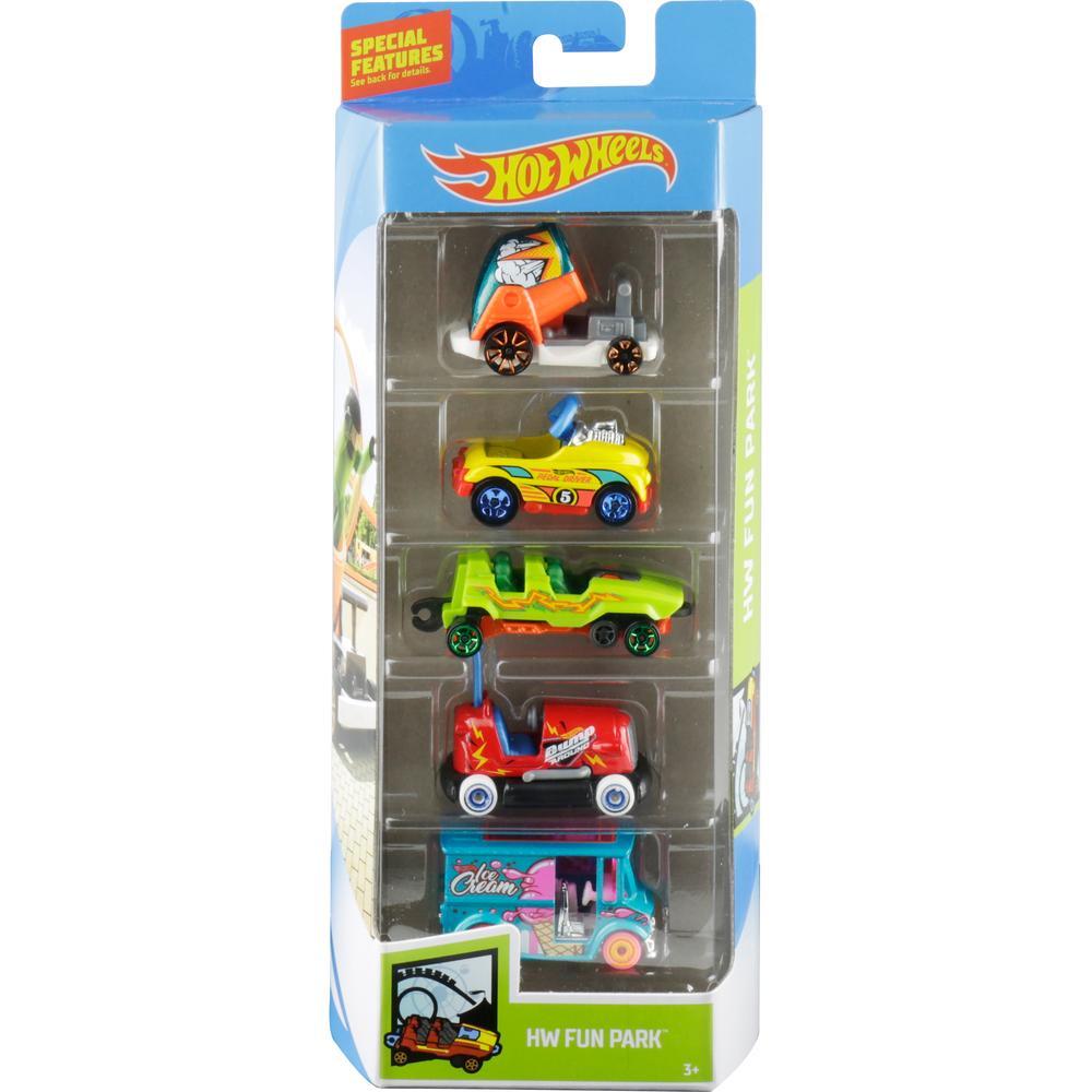 Mattel Hot Wheels 1806/GHP49 Подарочный набор из 5 машинок (Fun Park)